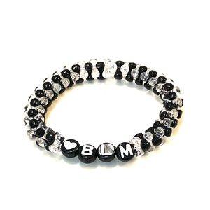 2/$12 Black and Clear Black Lives Matter Bracelet